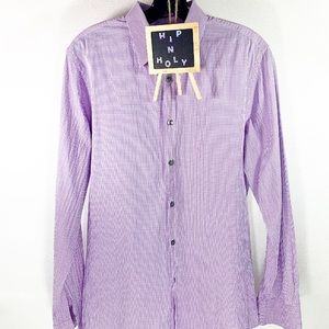 PAUL SMITH GINGHAM PRINT BUTTON DOWN NECK 15 1/2